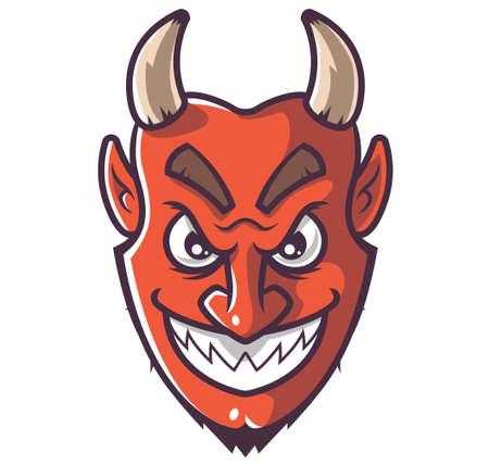 smiling devil face. vector illustration