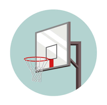 Basketball basket inscribed in a circle. equipment for sports. ball game. vector illustration Vektorové ilustrace