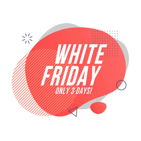 white friday organic design of liquid color abstract geometric shapes. Liquid gradient elements for minimal