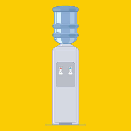 portable water cooler. Office equipment. flat vector illustration