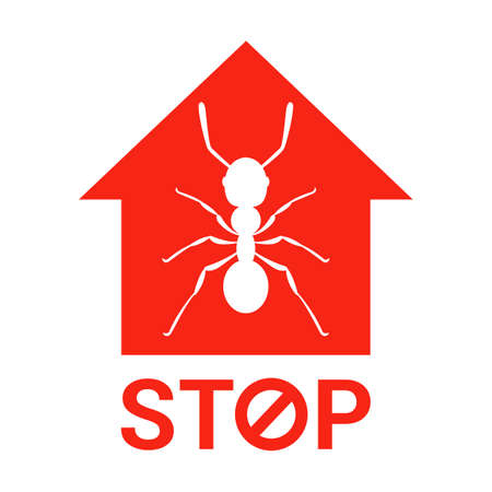 stop ants getting infected at home. exterminate insects in the apartment. flat vector illustration.