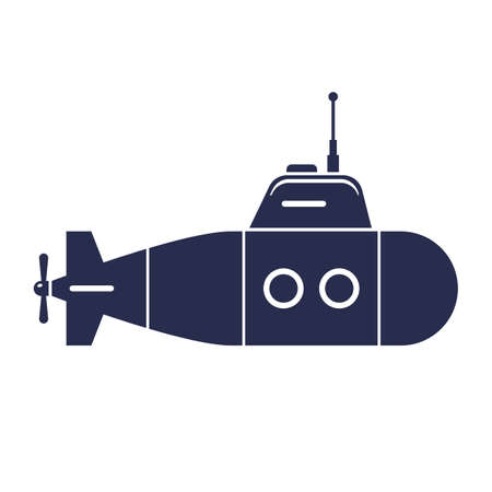 submarine icon on a white background. flat vector illustration.