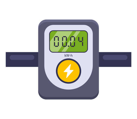 device for measuring electricity consumption. flat vector illustration isolated on white background. Banque d'images - 164930512