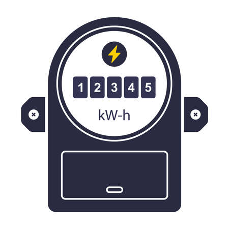 device icon for measuring electricity consumption. flat vector illustration 向量圖像