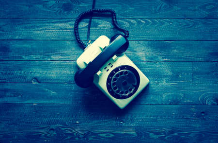 Old vintage telephone Stock Photo