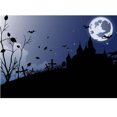 yellow hills: halloween Illustration