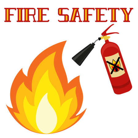 Fire safety poster design. Illustration