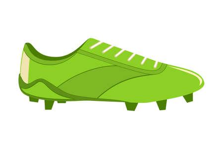 Botas de fútbol de dibujos animados coloridos. Ilustración de vector de tema deportivo para icono, signo de etiqueta, parche, insignia de certificado, tarjeta de regalo, logotipo de sello, etiqueta, cartel, banner web, invitación de flayer