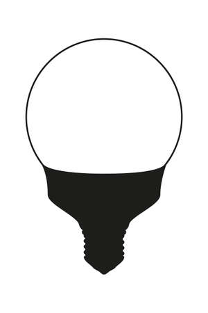 Black and white light orb lamp. Electricity themed vector illustration for icon, stamp, label, certificate, brochure, gift card, poster, coupon or banner background decoration