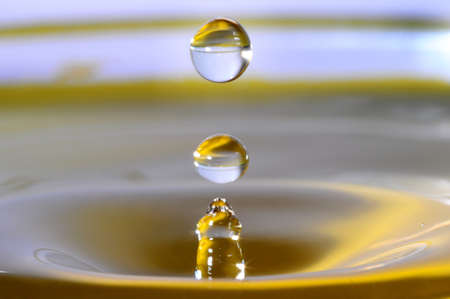 Style and color of water drop photo