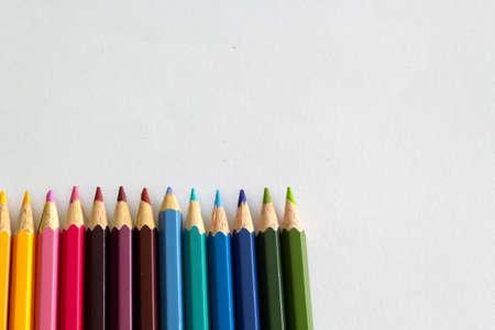 white colour: White paper with colour pencil