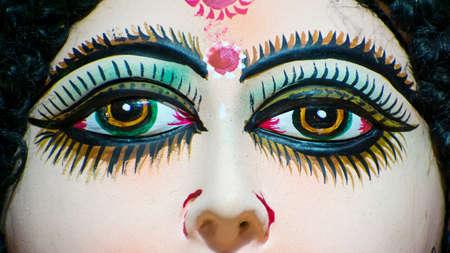 durga puja Navratri festival celebrations  auspicious nine day festival celebration of womanhood Stock Photo