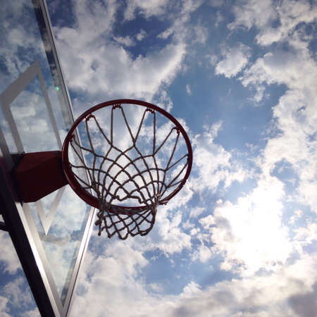 backdrop: Basketball hoop with sky backdrop