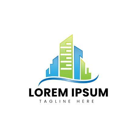 Modern Colorful Real Estate Logo Design Ilustração