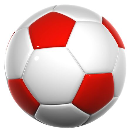 football kick: High resolution soccer ball isolated on white background