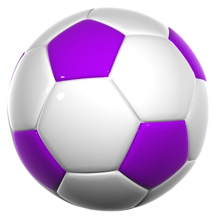 High resolution soccer ball isolated on white background