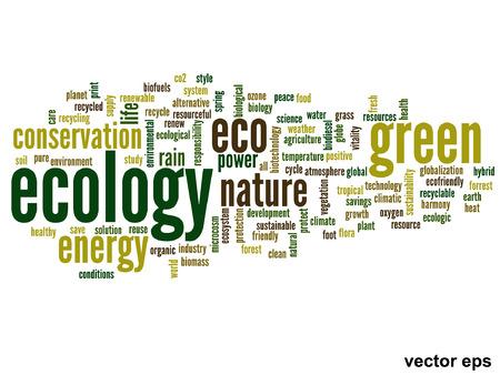 Vector conceptual ecology word cloud concept Vector
