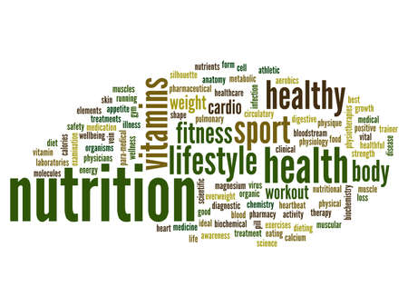 Conceptual health word cloud background photo