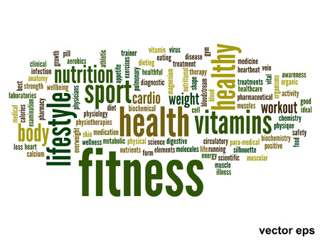 Vector conceptual health word cloud concept