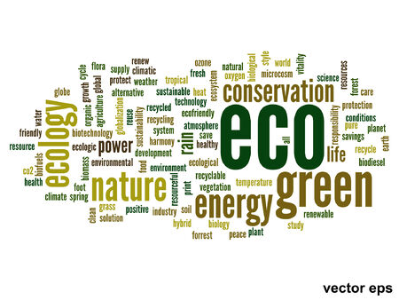 Vector conceptual ecology word cloud concept Vector