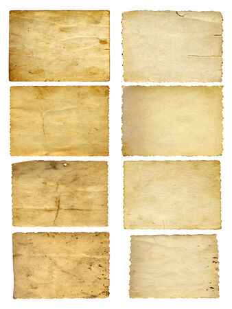 Old vintage paper banners set or collection isolated on white photo