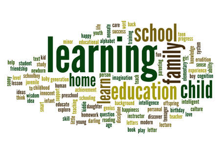 Conceptual education word cloud background photo