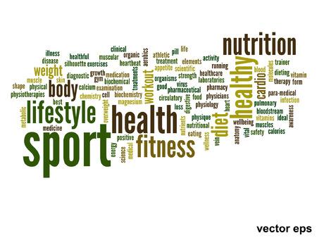 Vector conceptual health word cloud concept