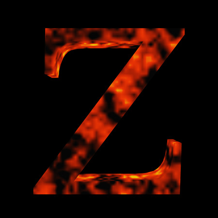 flamboyant: Conceptual hot red fire flame font isolated on black