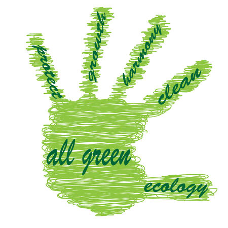 Conceptual ecology hand sketch word cloud photo