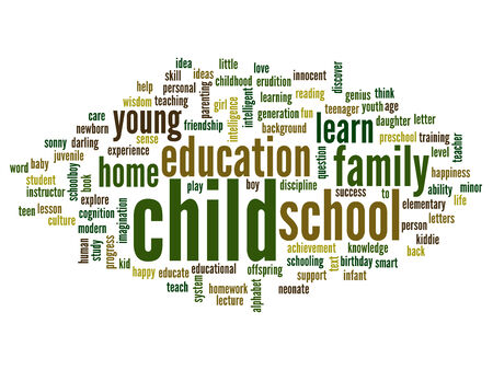 love strategy: Conceptual education word cloud background Stock Photo