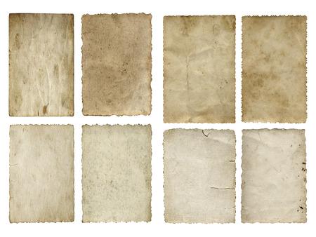 Old Vintage-Papier Banner-Set oder Sammlung isoliert auf weiß Standard-Bild - 35451013