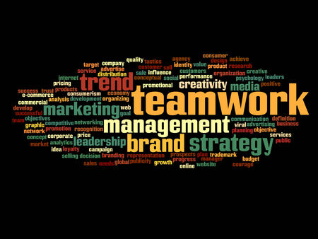 Conceptual business word cloud concept photo