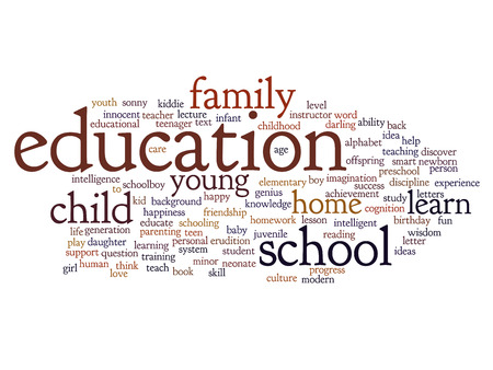 Conceptual education word cloud concept photo