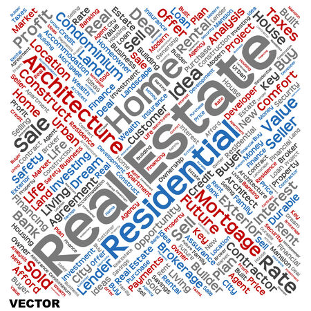 home value: Conceptual real estate or housing word cloud isolated on background