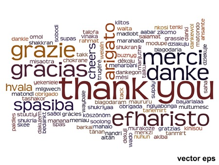 Vector conceptual thank you word cloud isolated for business or Thanksgiving Day Banco de Imagens - 36276796