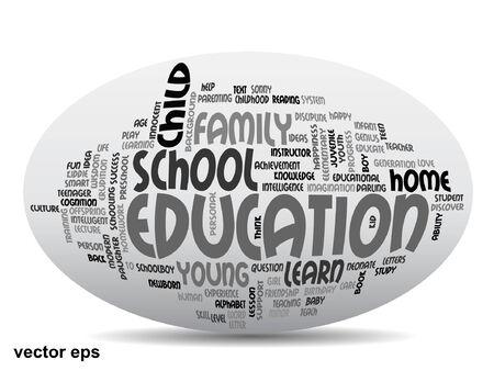 Conceptual education word cloud concept