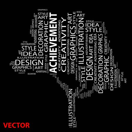 Conceptual design and education tree word cloud Vector