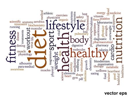 consonance: Conceptual health or diet or nutrition word cloud concept isolated on background Illustration