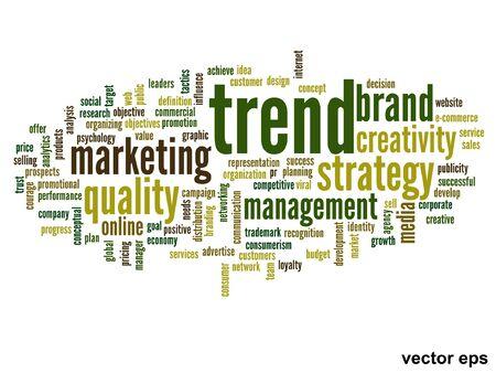 Vector conceptual business word cloud concept Vector