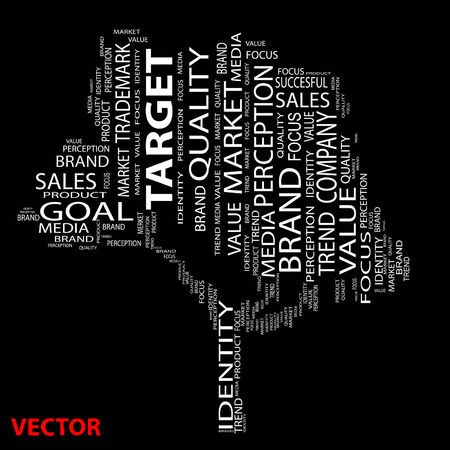 Conceptual media business tree  word cloud Vector