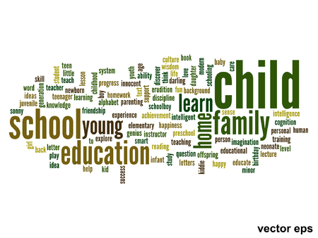 Vector conceptual education word cloud concept Vector