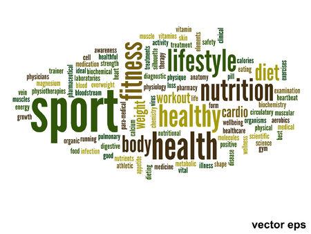 Vector palabra salud conceptual concepto de nube Foto de archivo - 36829229