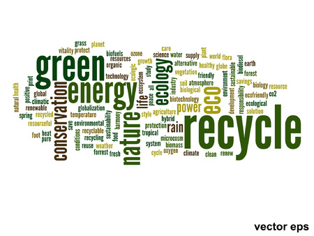 Vector conceptual ecology word cloud concept