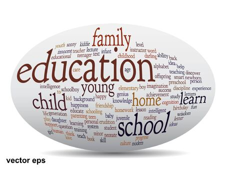 Conceptual education word cloud concept Vector