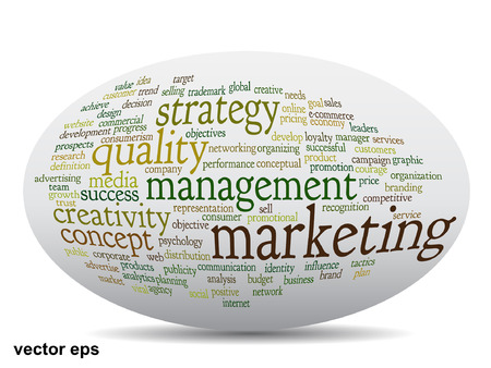 Conceptual business, marketing or leadership word cloud concept Vector