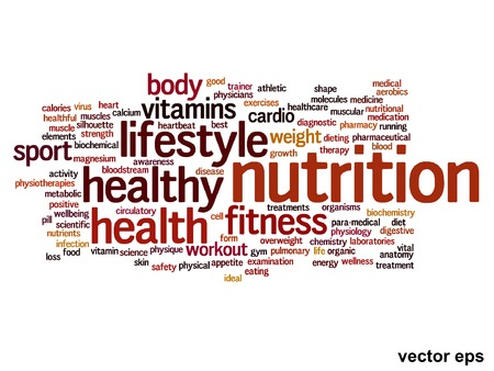 Conceptual health or diet or nutrition word cloud concept isolated on background Banco de Imagens - 36826712