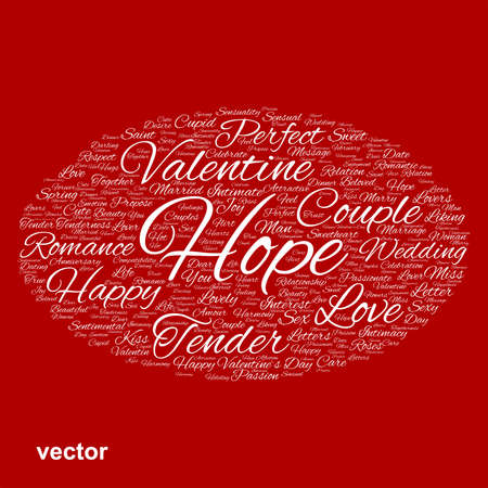 romantic sex: Conceptual Love, Valentine or valentine`s Day, wedding word cloud