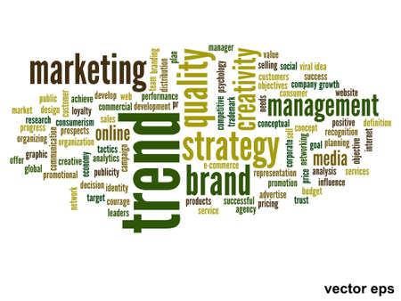 Vector conceptual business word cloud concept