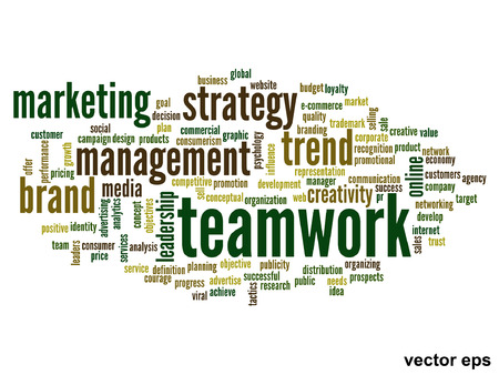 business word: Vector conceptual business word cloud concept