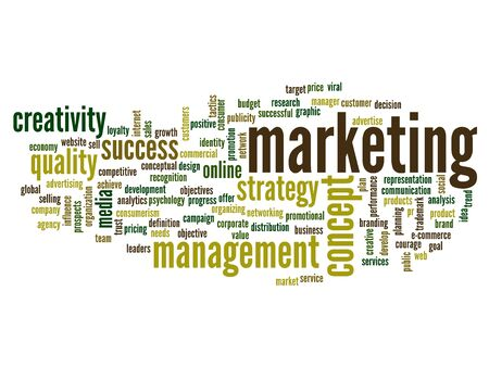 Conceptual business word cloud background Stock Photo